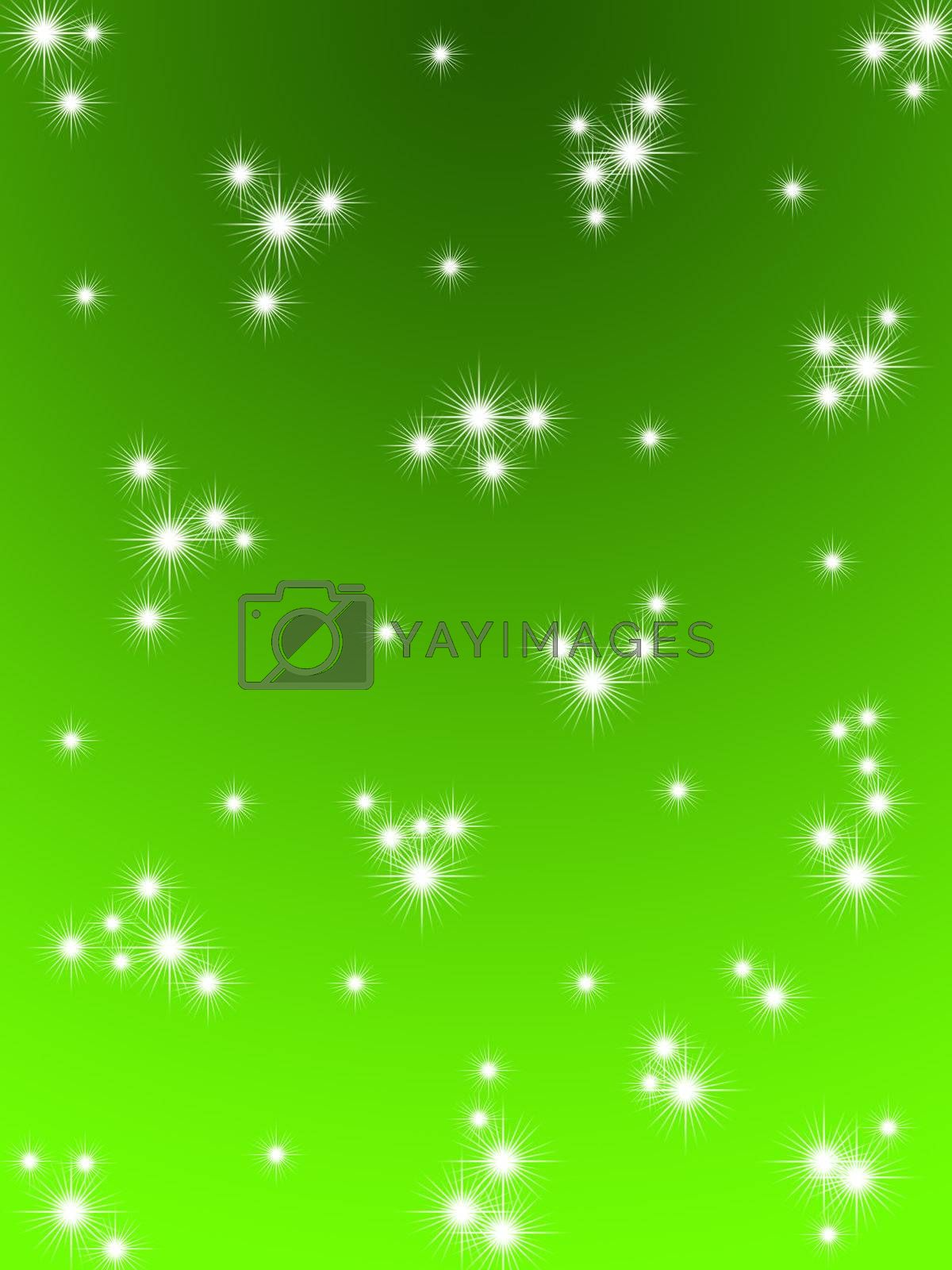 Green Christmas background. Snow falls. Snow Christmas night