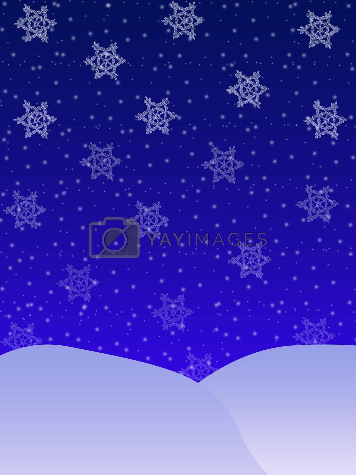 Christmas background. Snow falls. Snow Christmas night