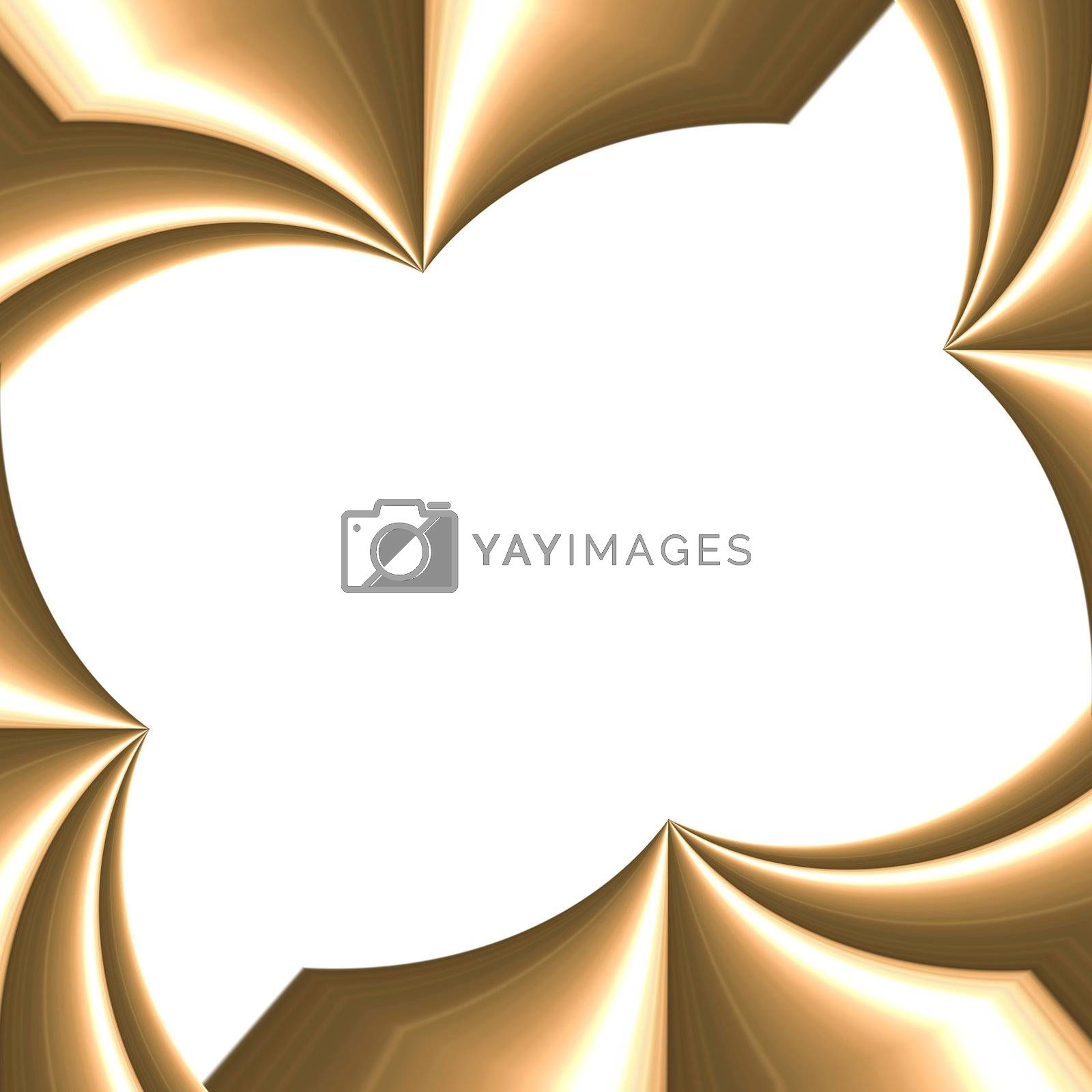 golden round photo frame on white (better photo then the first one of same object)