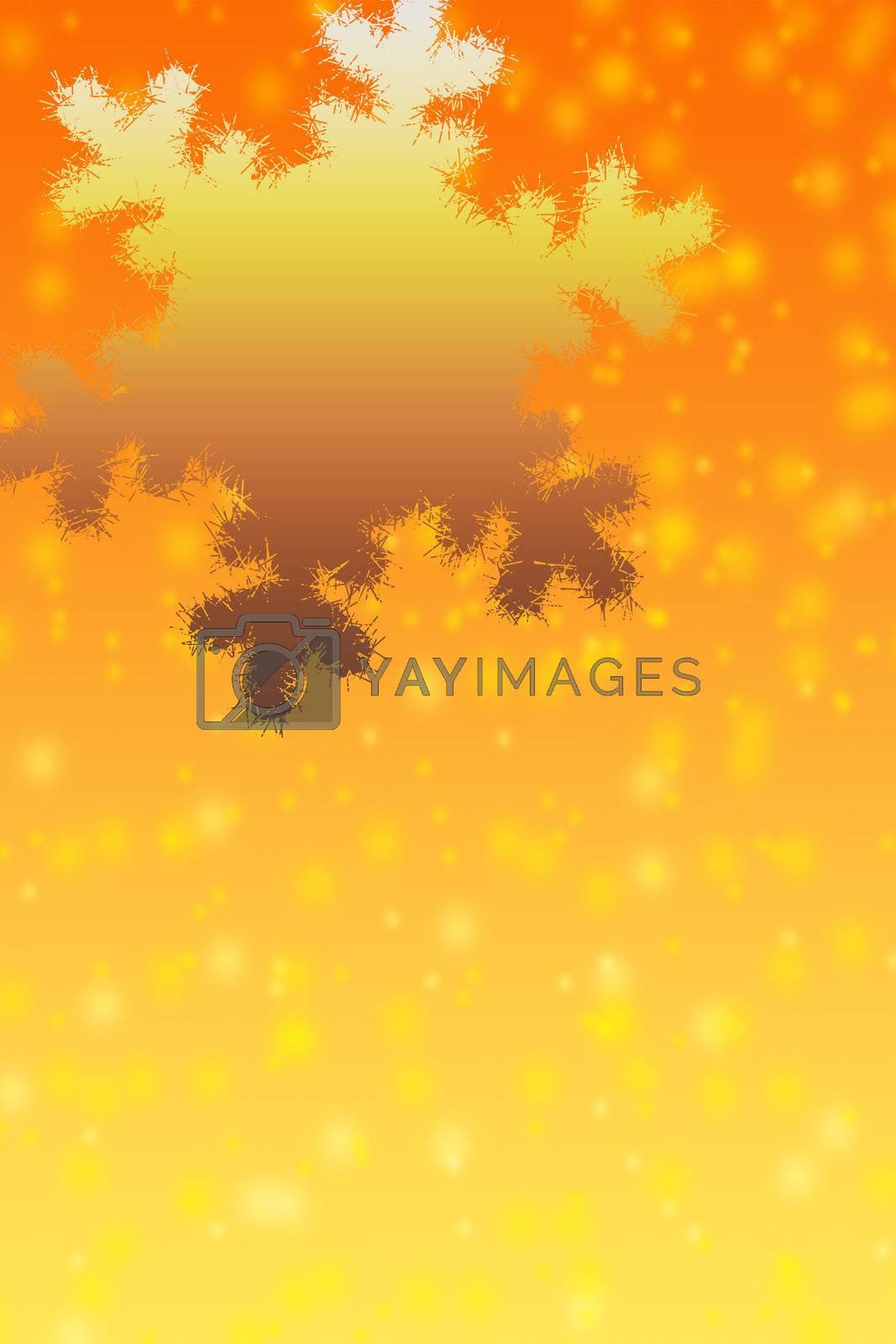 Christmas snowflake on an orange background. The big snowflake