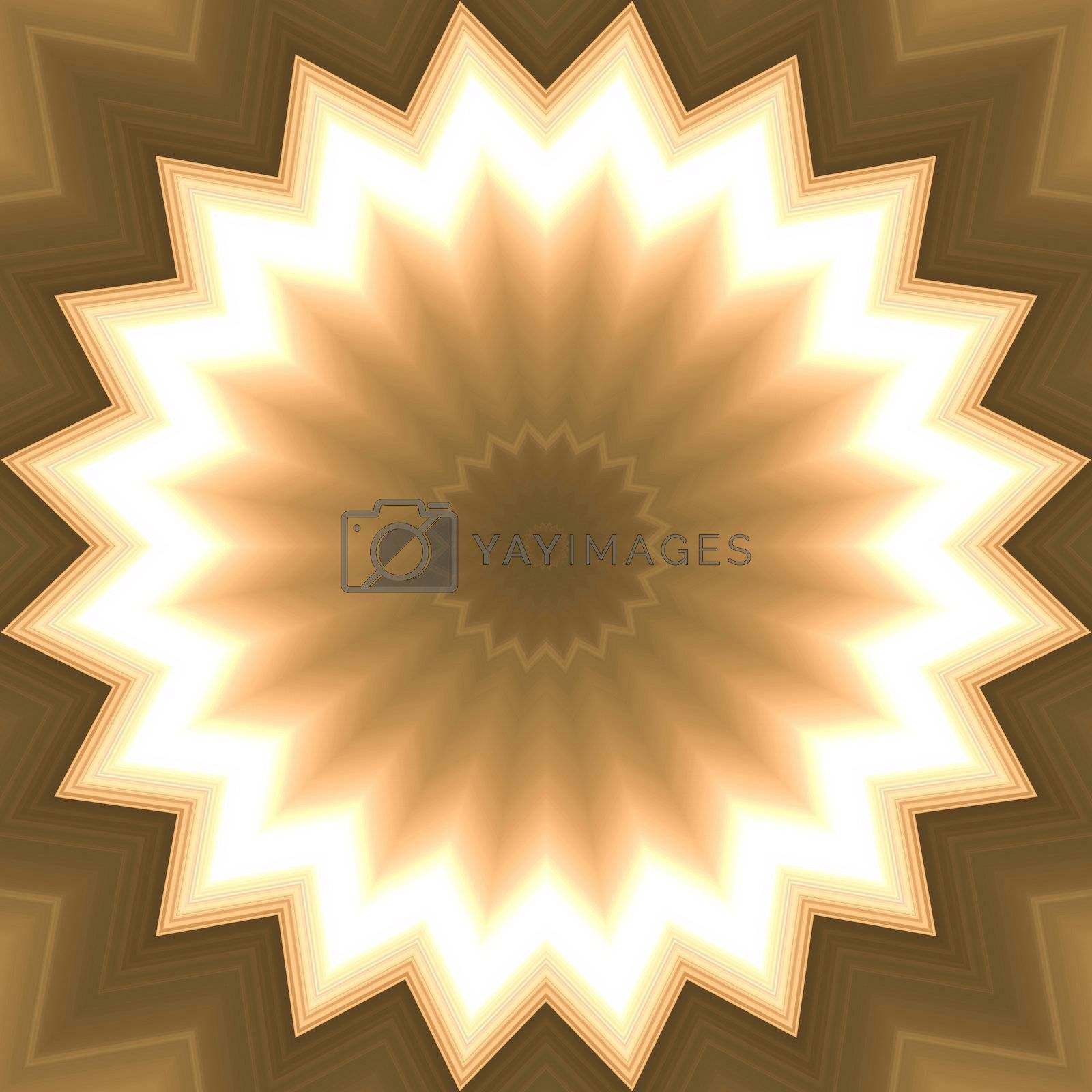 Abstract background the sun. A gold abstract background. A brown background