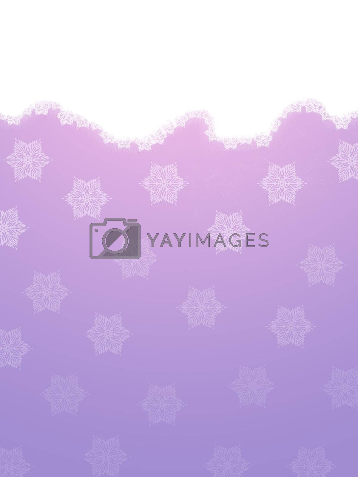 Snowflakes on a violet background. Christmas snow.