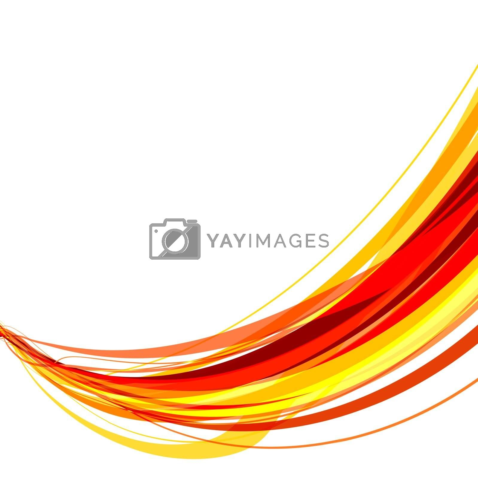 Abstract vector illustration of red and yellow ribbons tangled together