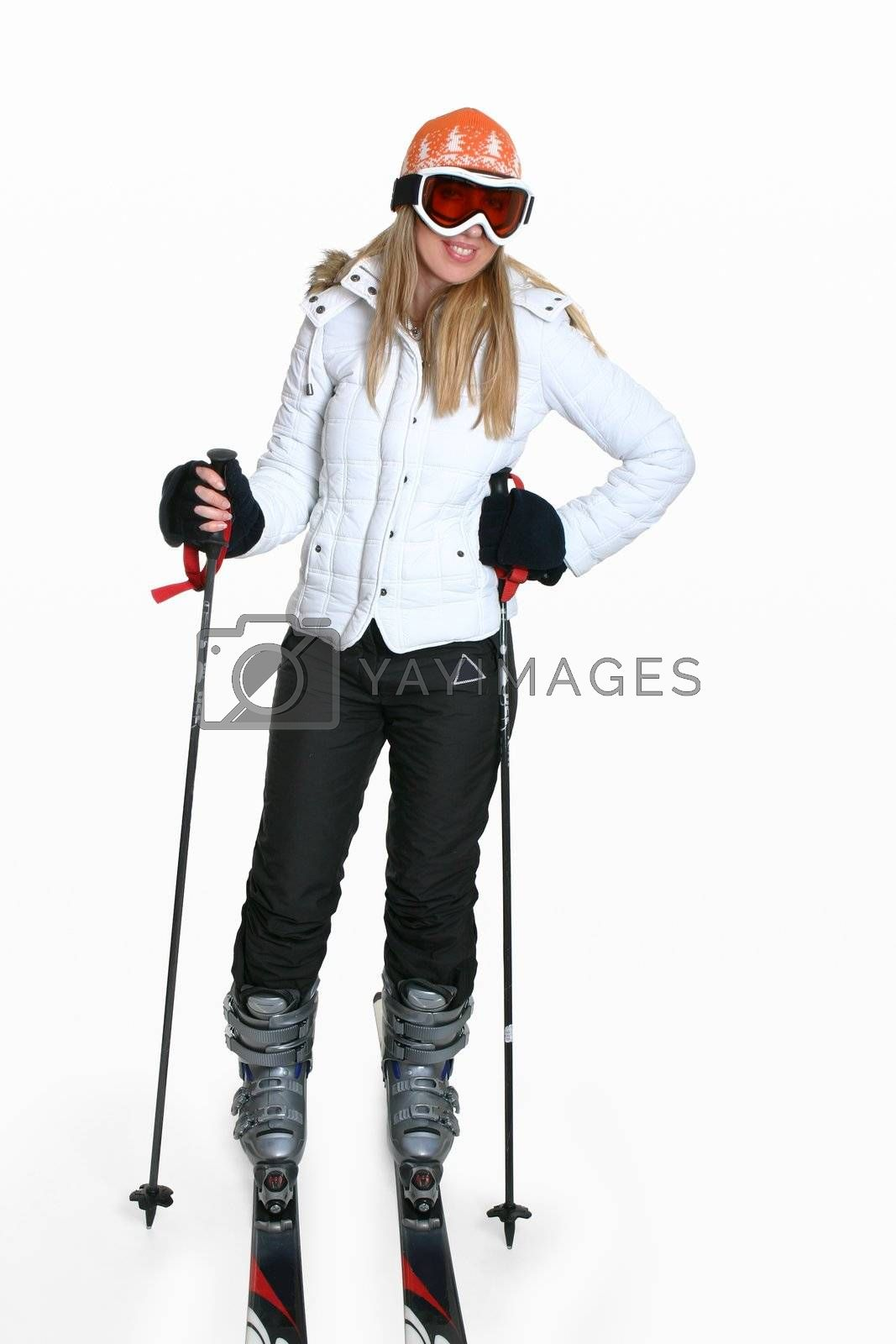 Female wearing ski gear by lovleah