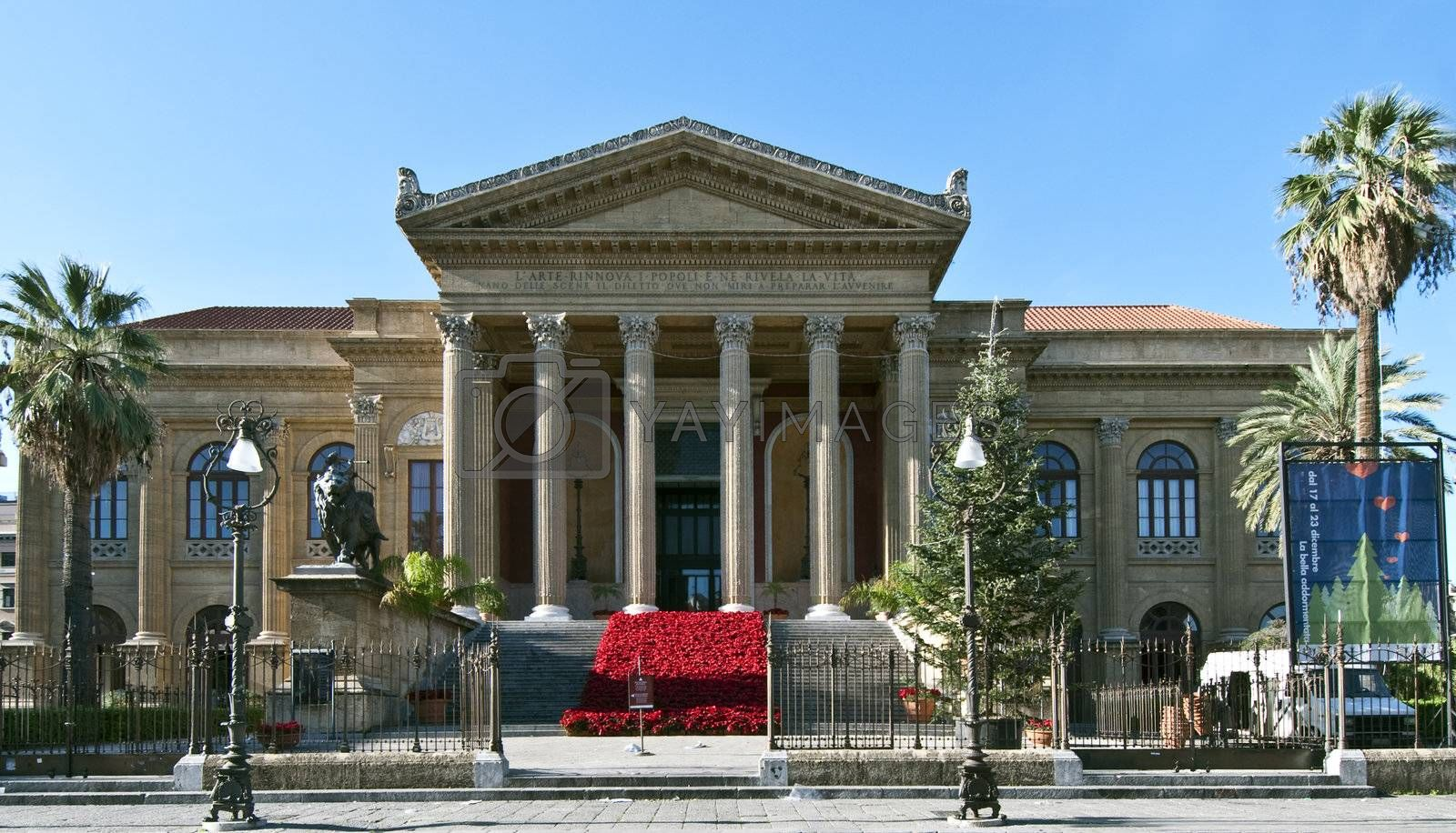 Teatro Massimo in Palermo during the Christmas