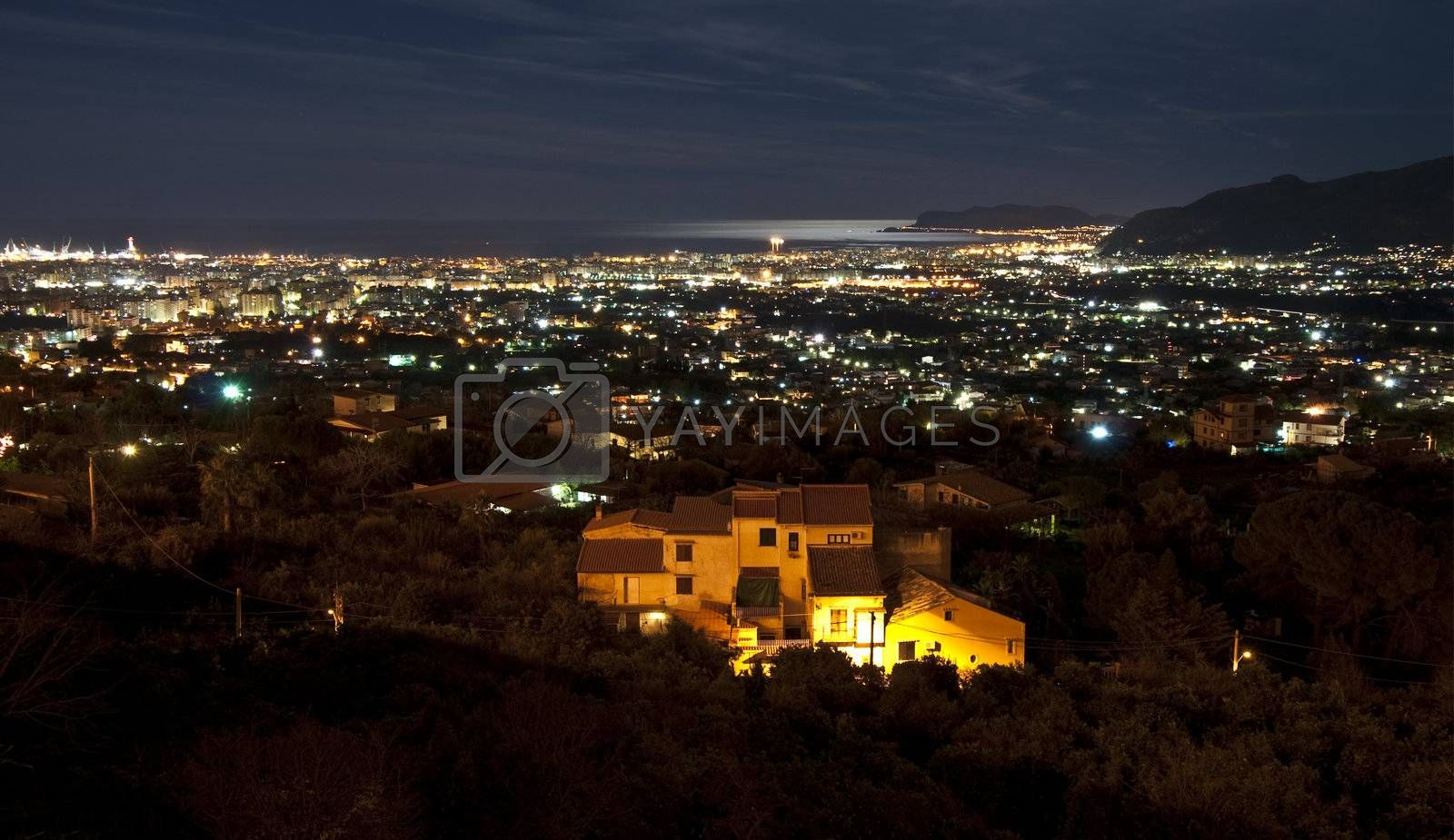 Panoramic view of Palermo from Monreale Entertainment