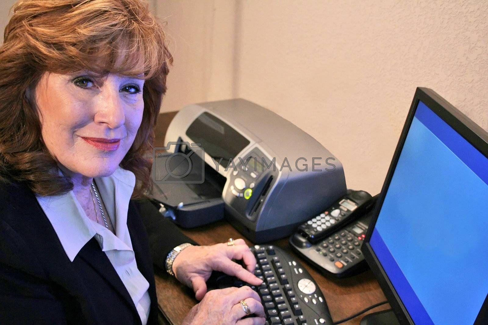 Executive Woman working on computer