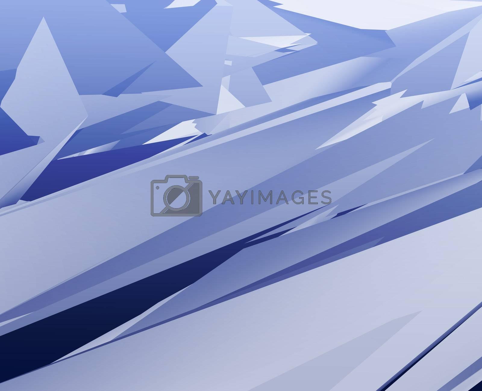 Abstract illustration background of sleek geometric shapes