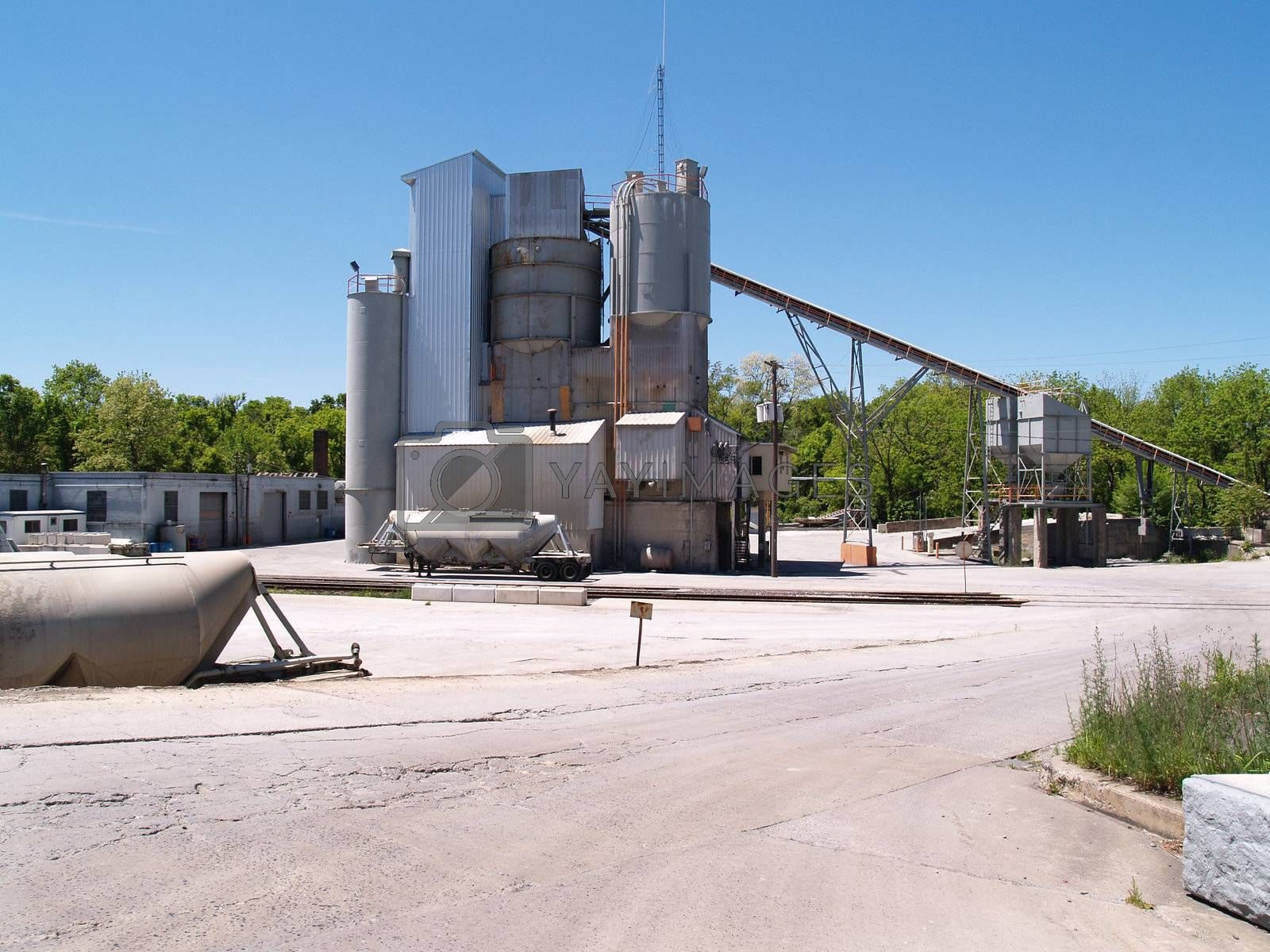exterior view of a large industrial site
