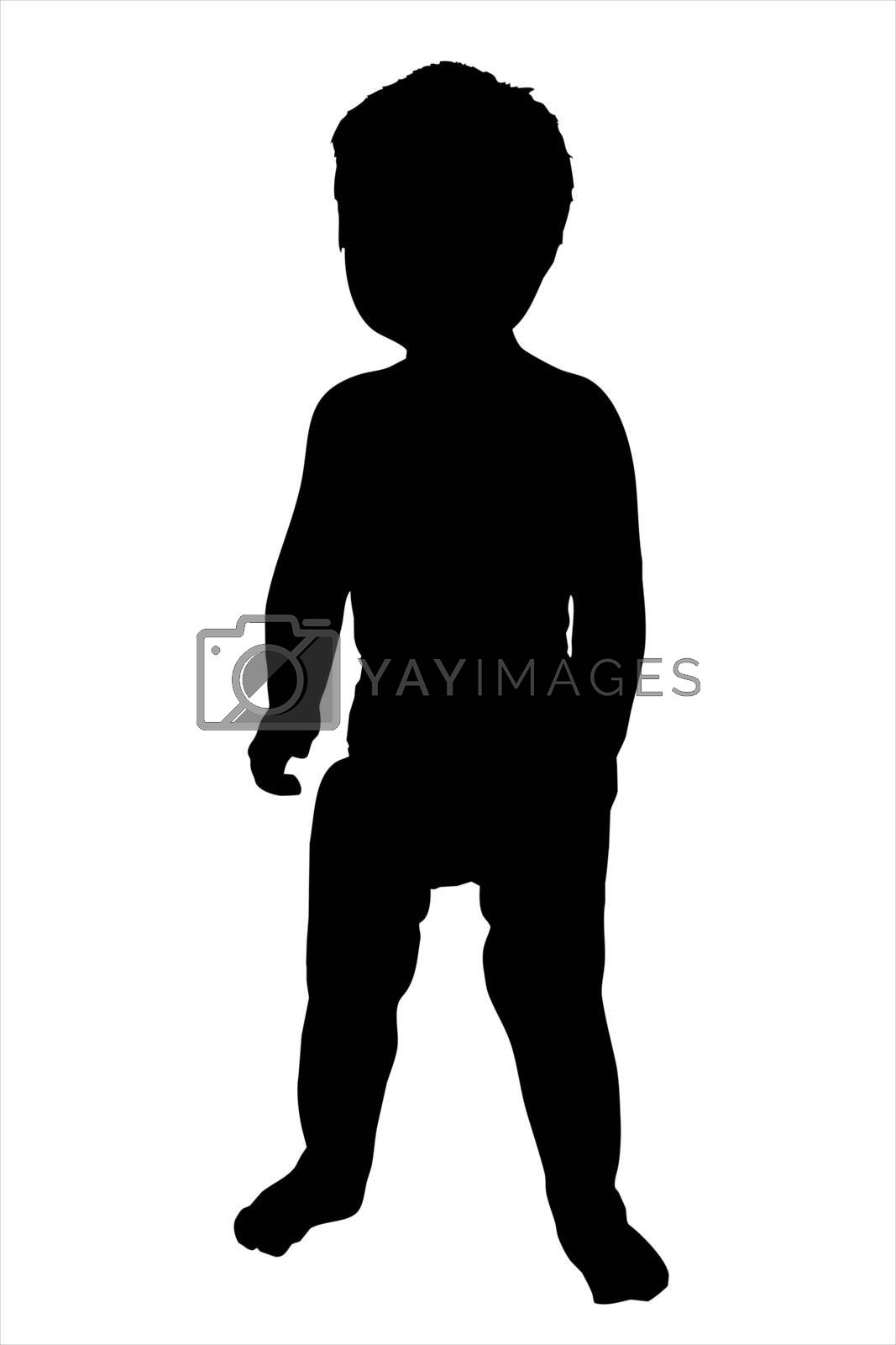 An illustration of a toddler isolated on a white background.