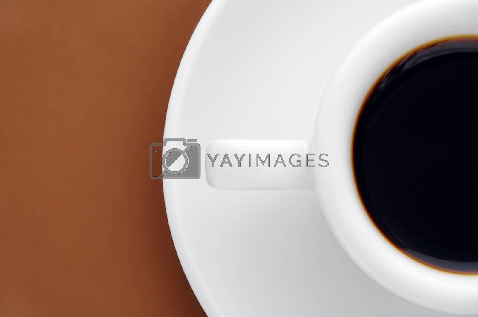 Royalty free image of half an espresso by massman