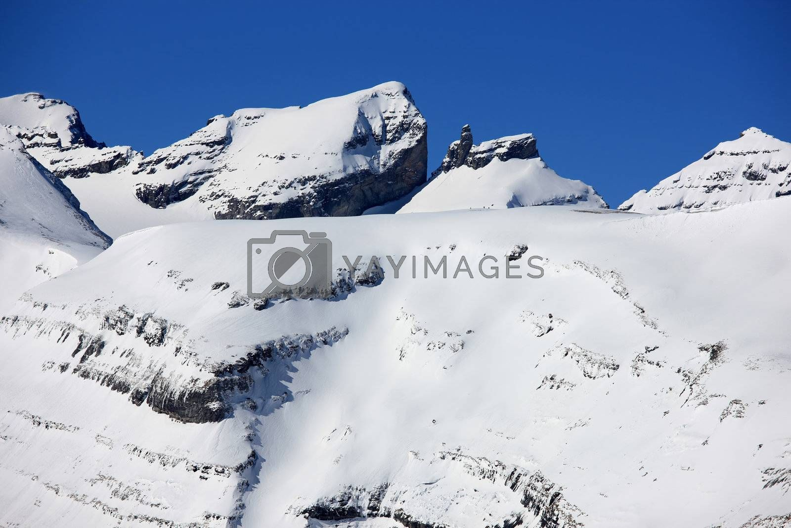 Royalty free image of Swiss mountains in Winter by monner