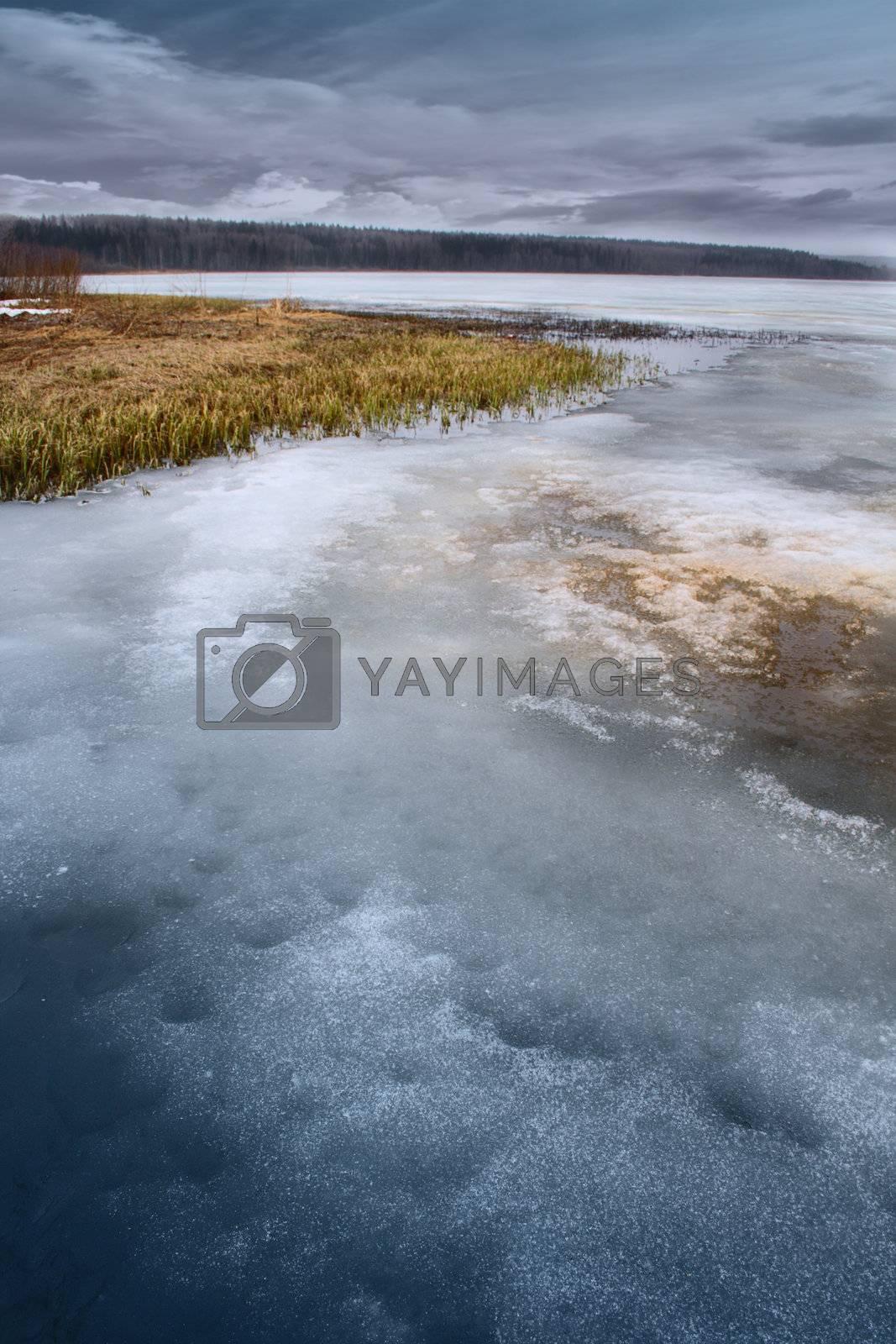Frozen Pond In Russia by Tsian