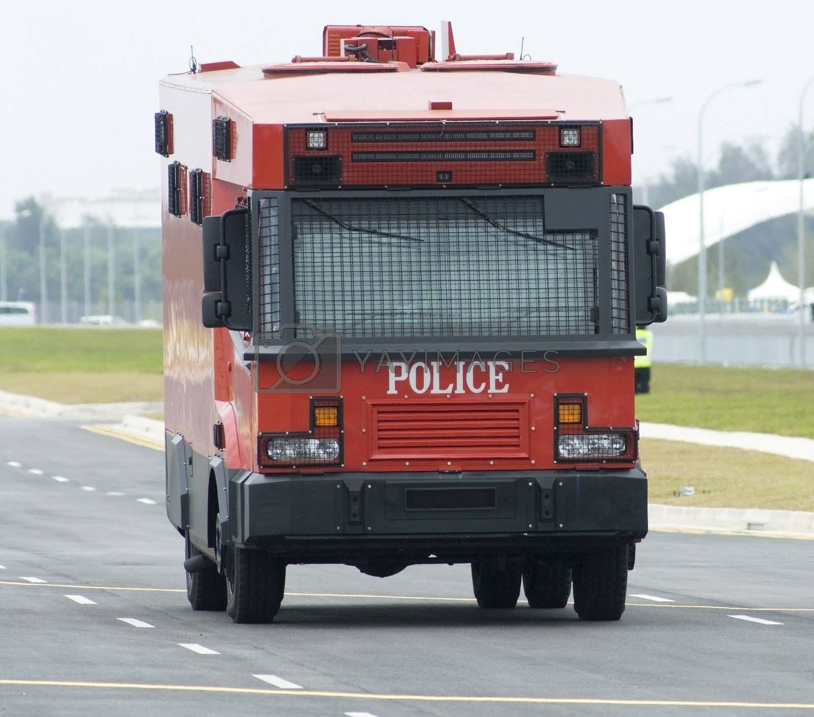Red police truck by epixx