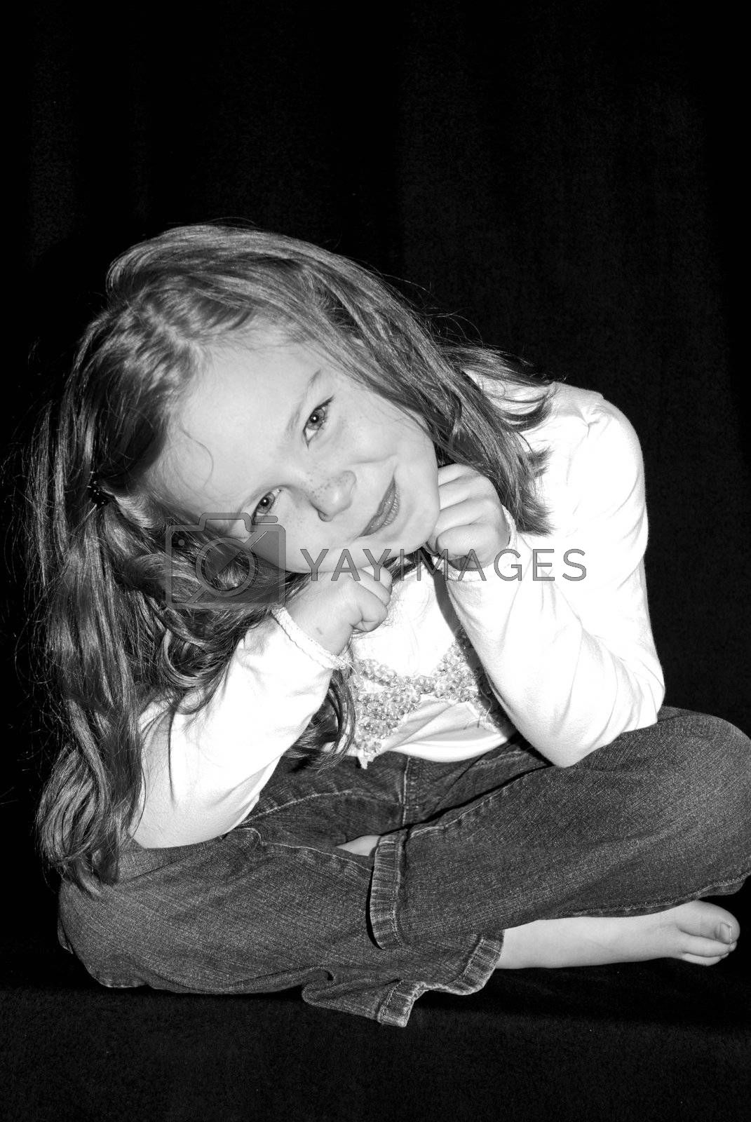 5 year old girl.  Relaxed shoot.