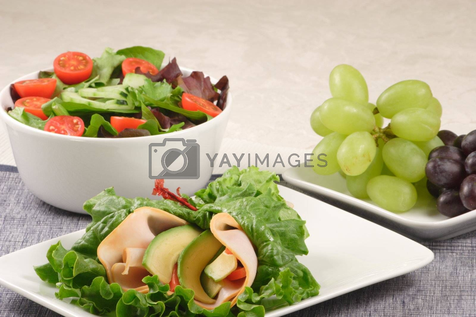 lettuce sandwich and salad by tacar