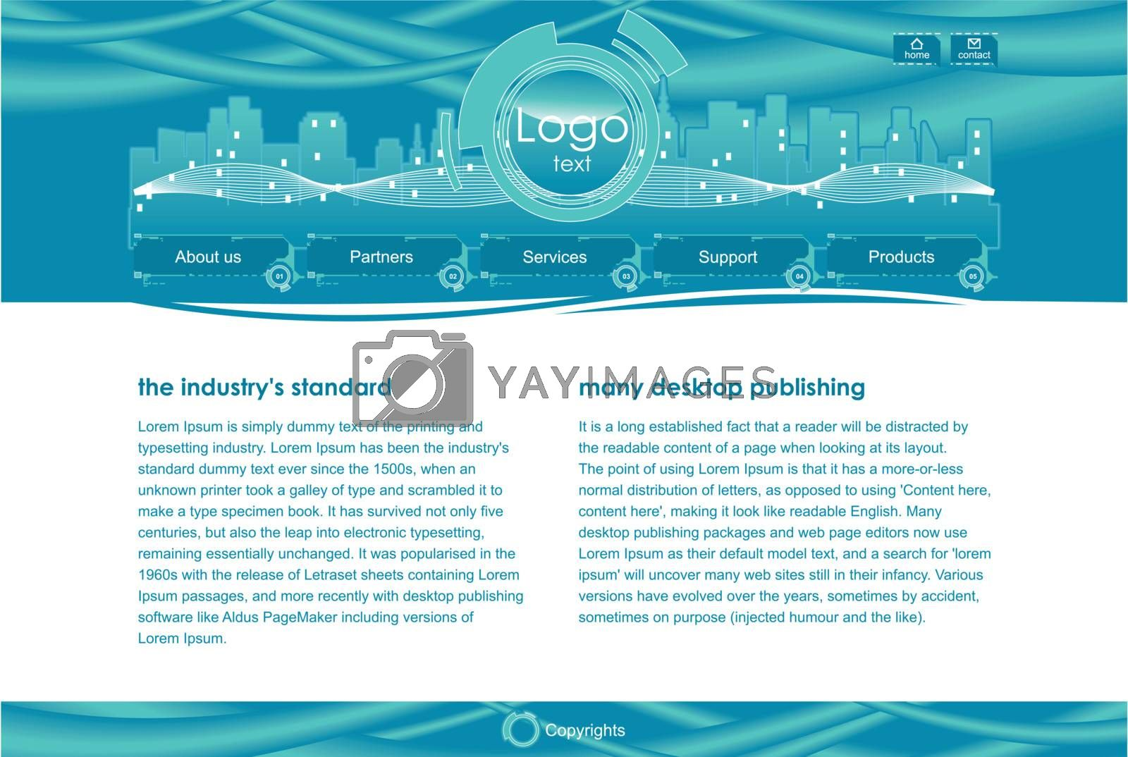 Vector illustration of Web site template.