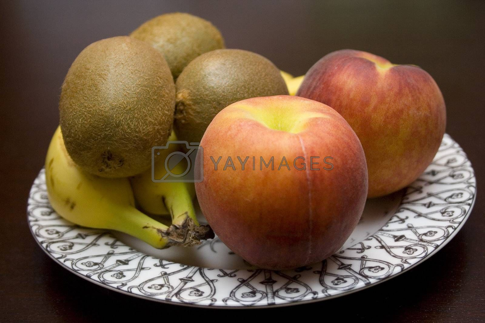 A plate of delicious and healthy fruit.