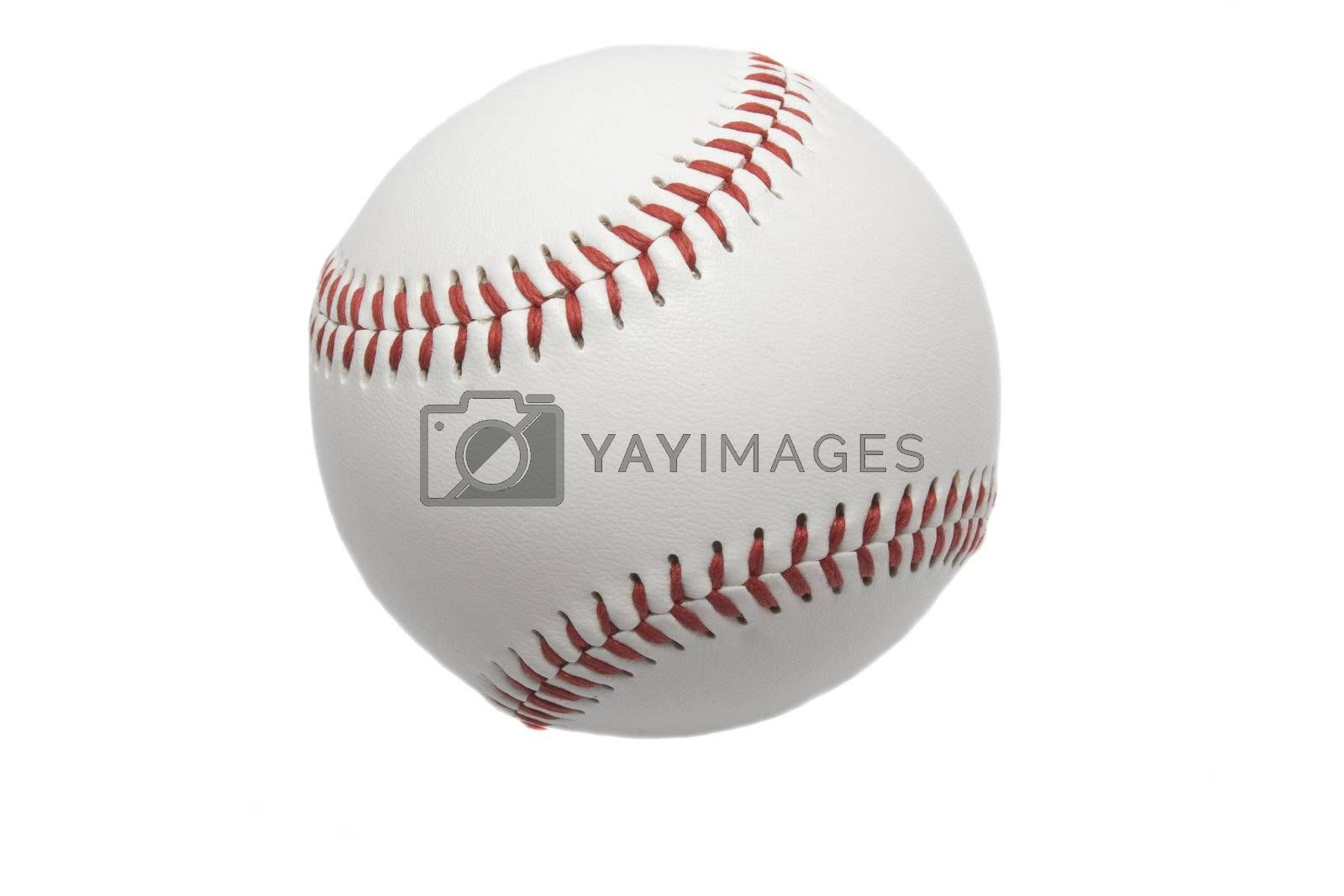 A professional baseball isolated on white.