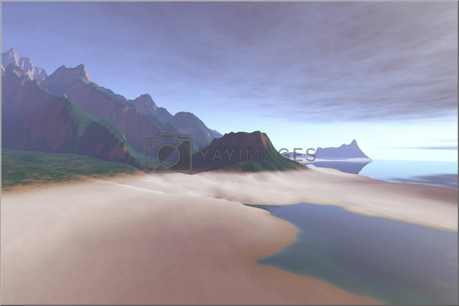 Royalty free image of SILVER SANDS by Catmando