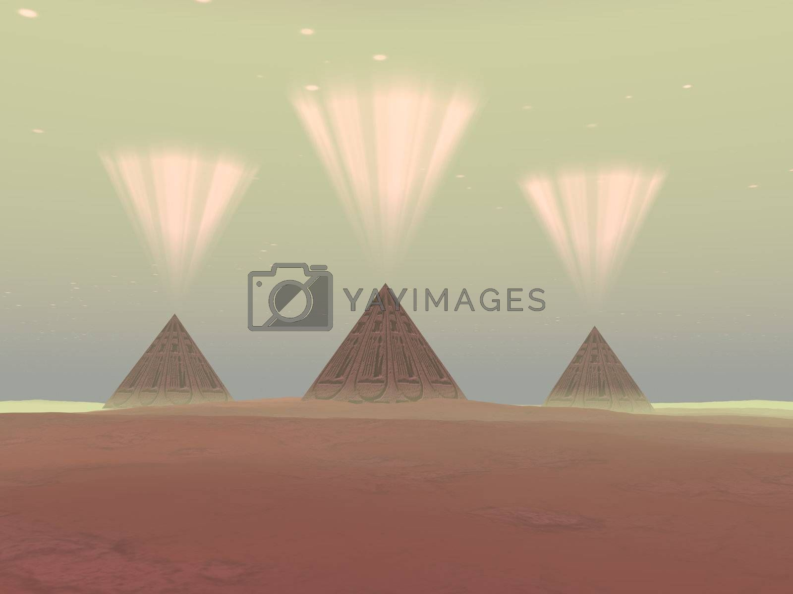Royalty free image of COSMIC PYRAMIDS by Catmando