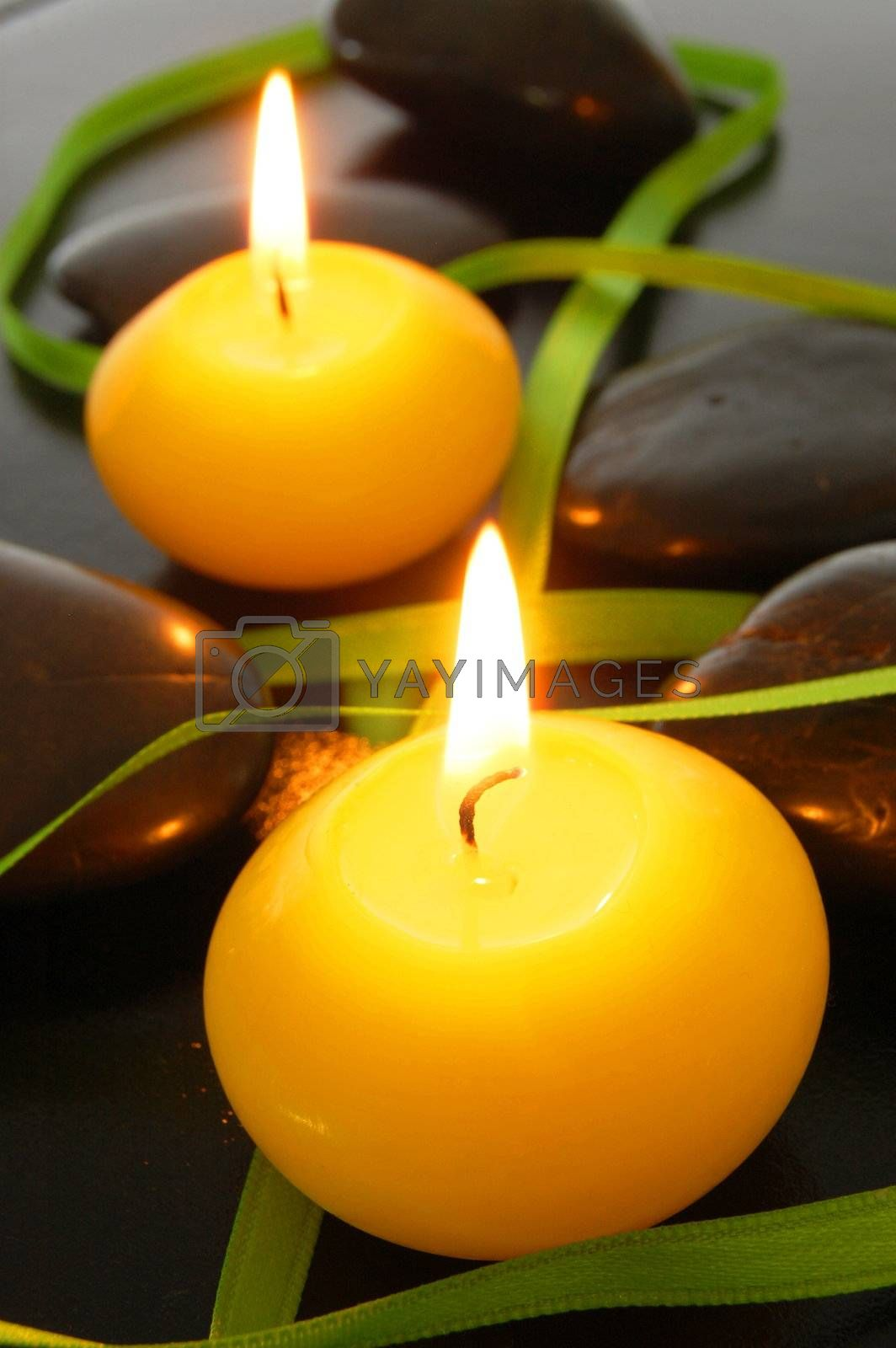 candle light showing spa love or romance feeling