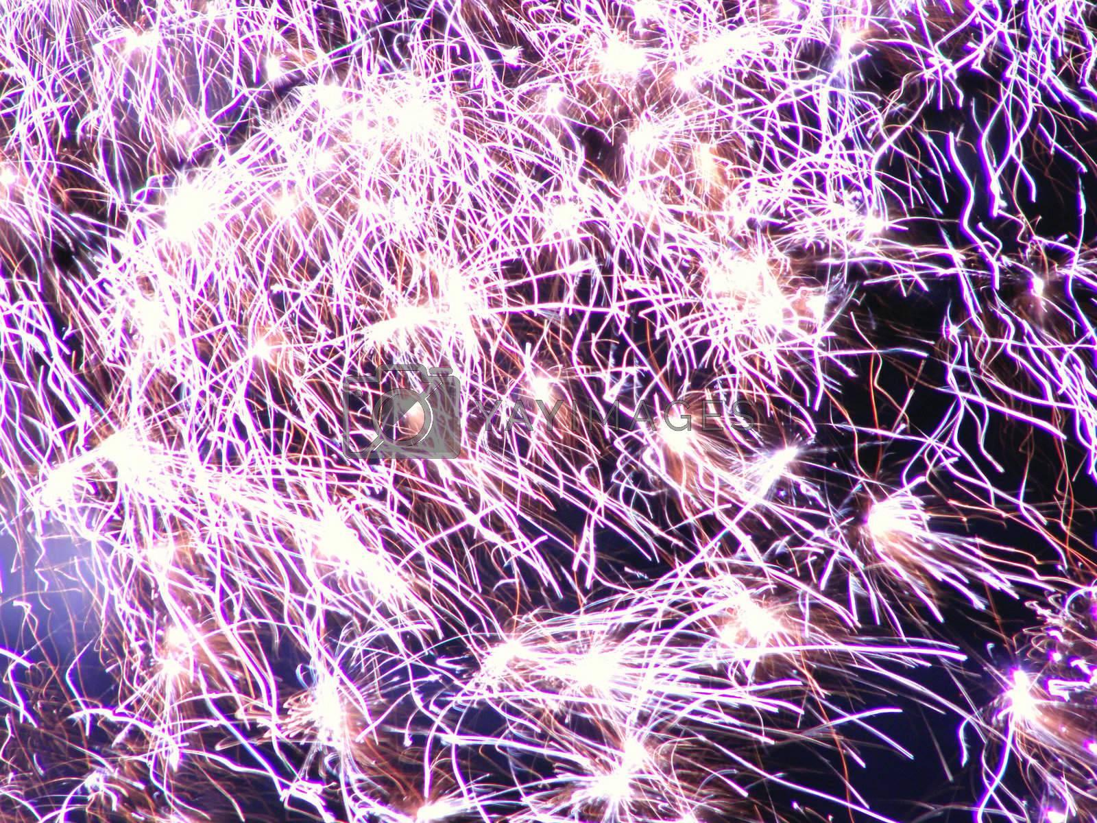 festive firework on night sky