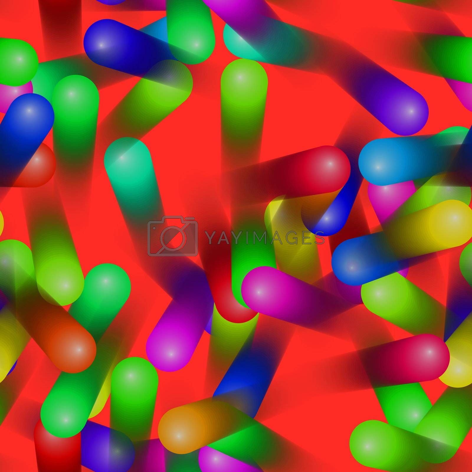 Colorful moving jellybean wallpaper by kgtoh