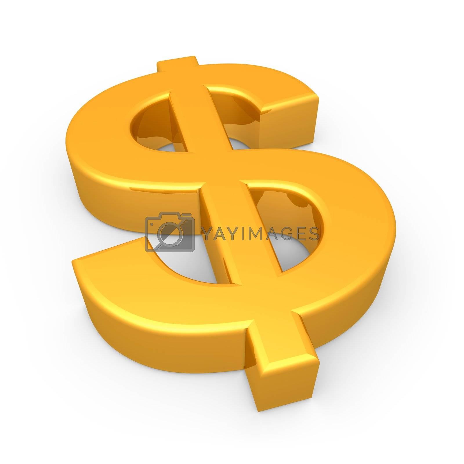 Computer Generated Image - Dollar Symbol .