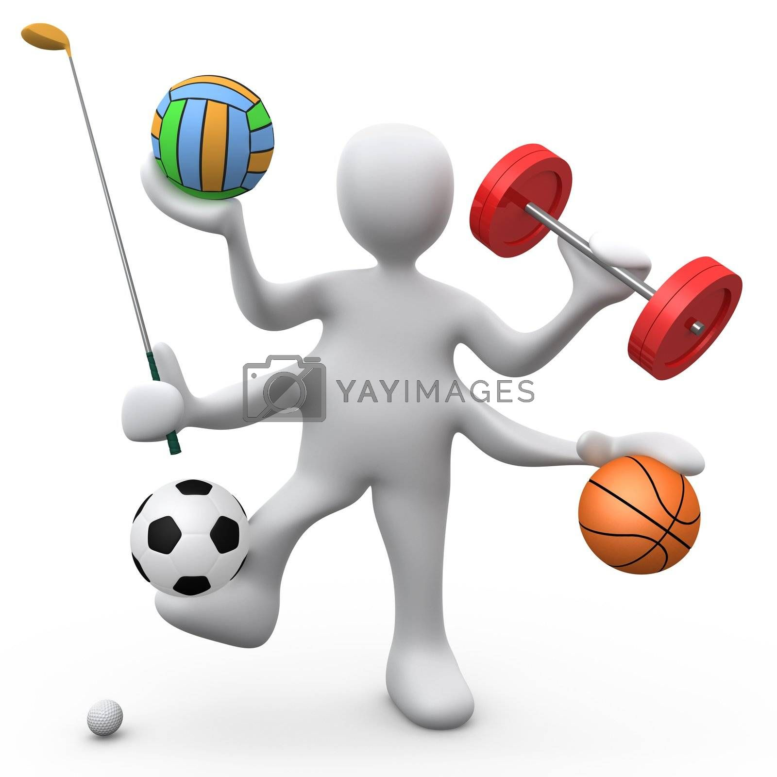 Computer Generated Image - Athletic Person .
