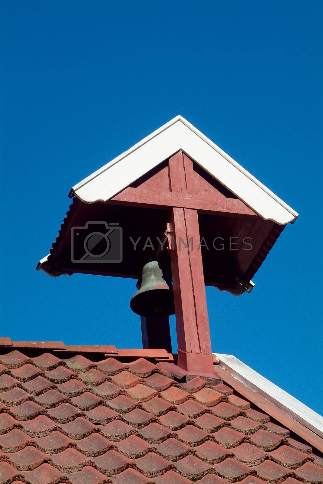Bell tower on old building by epixx