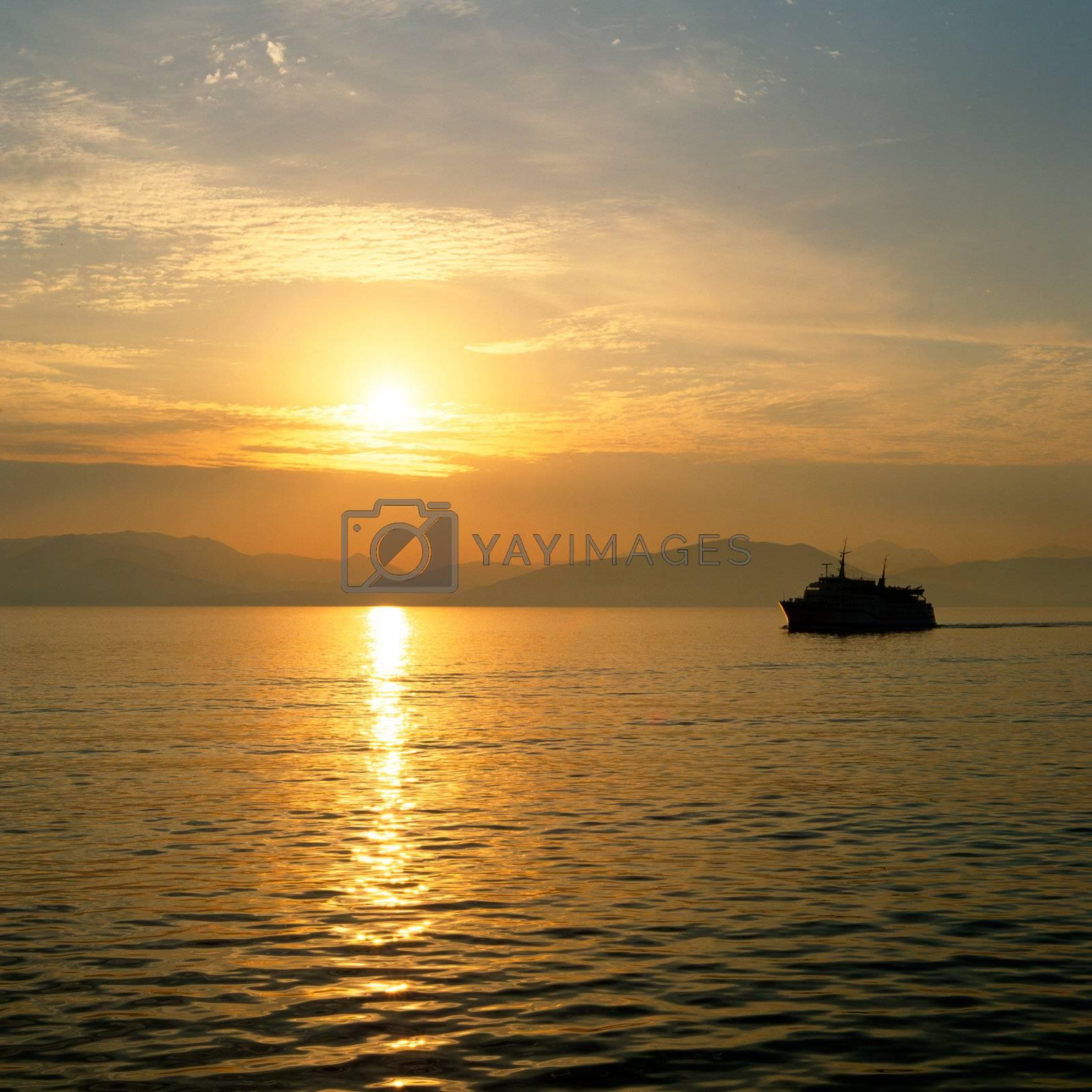 Sunrise over the greek islands by runamock