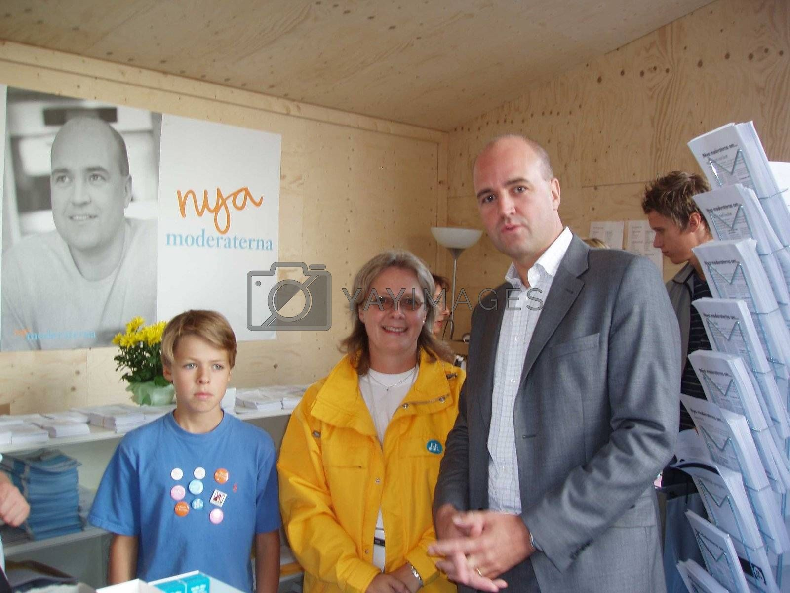 Swedish prime ministre Fredrik Reinfeldt in september 2006