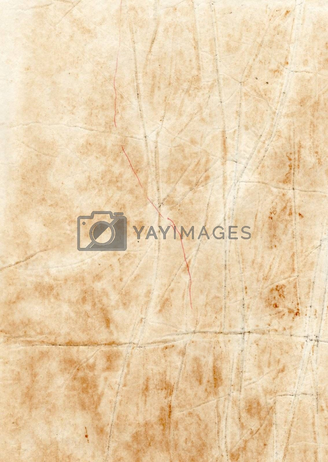 Old stained rugged dirty paper