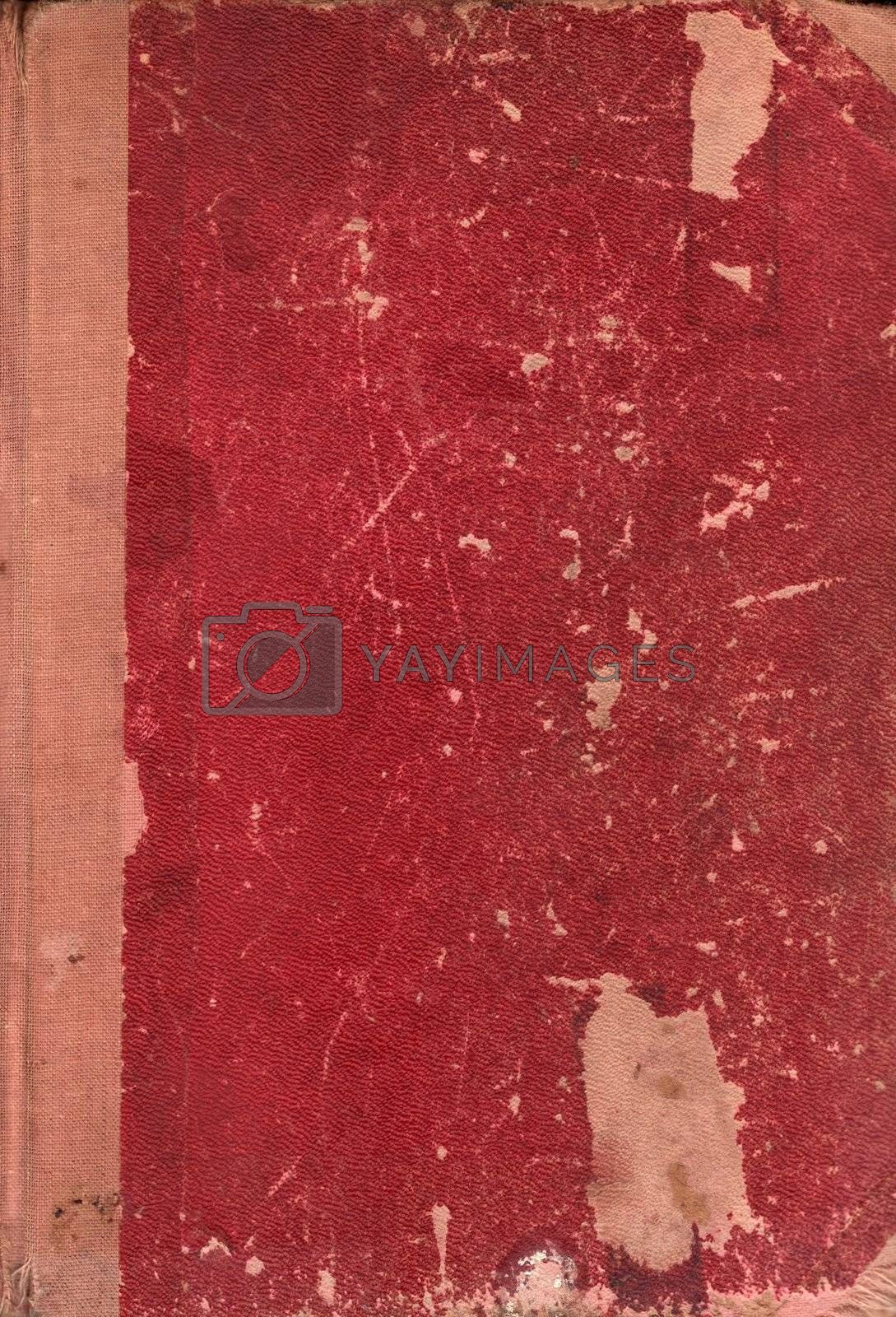 Old rugged leather book cover