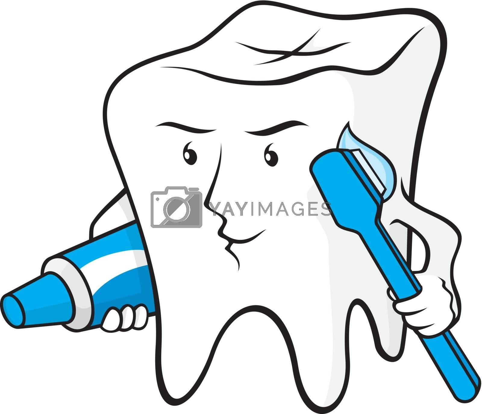 Tooth protected by sifis