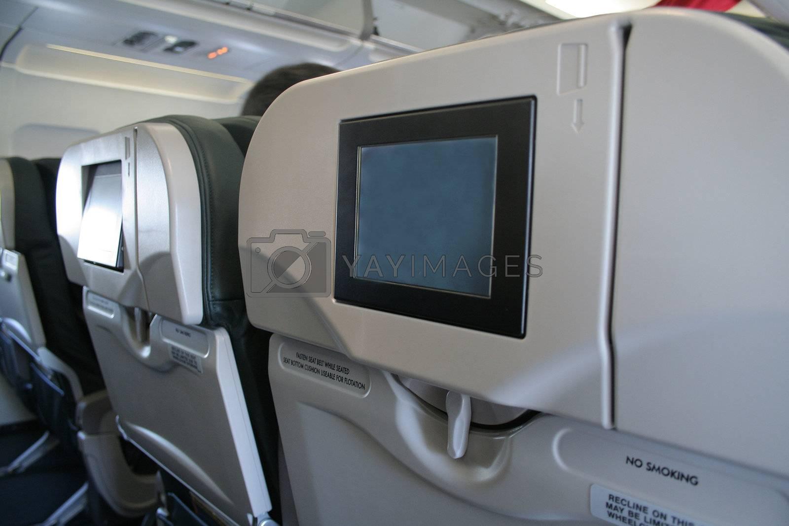 On board entertainment screen
