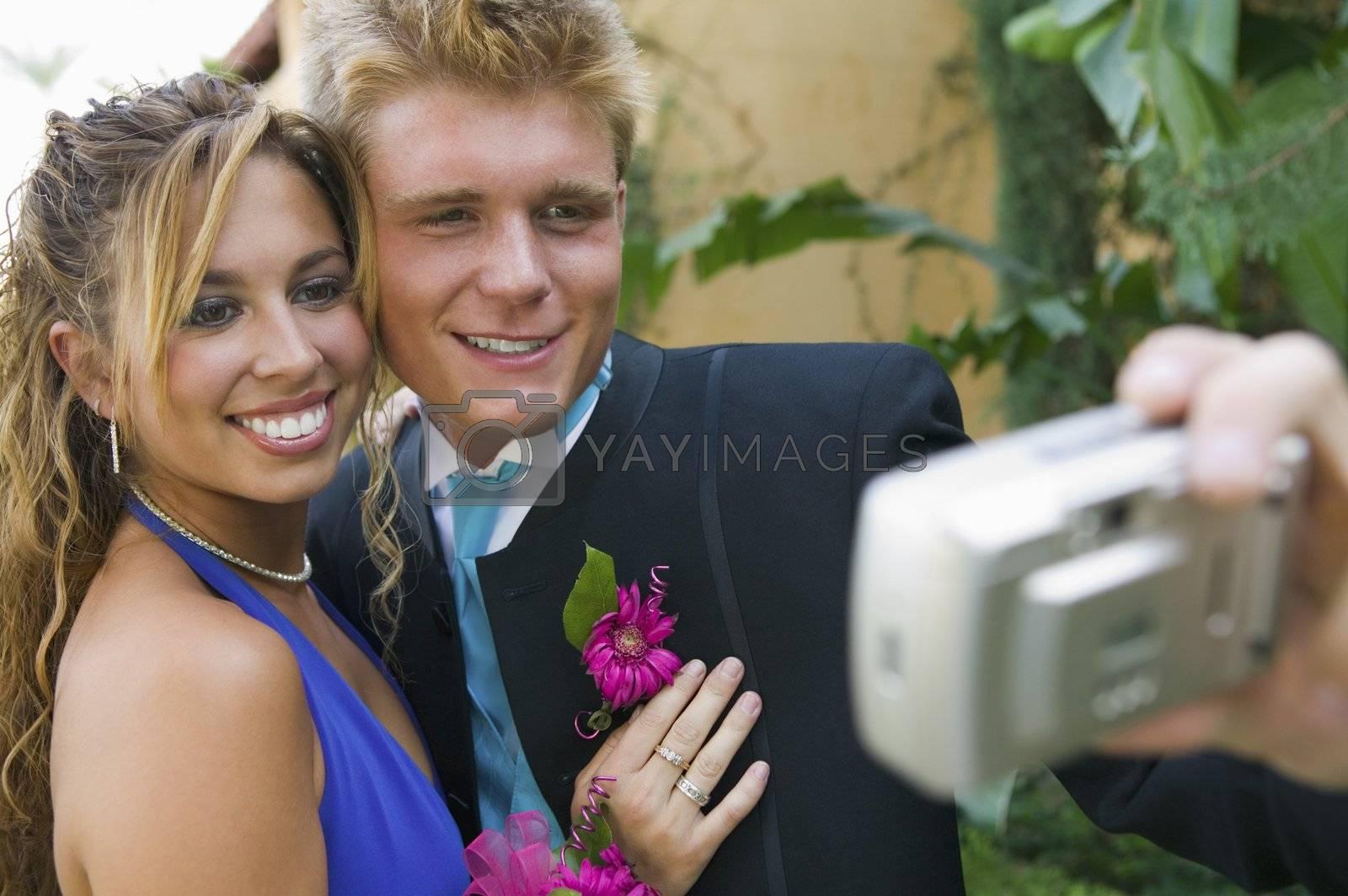 Prom Couple Taking Photo