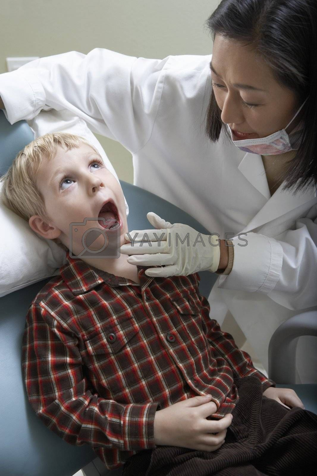 Boy at Dentist's Office