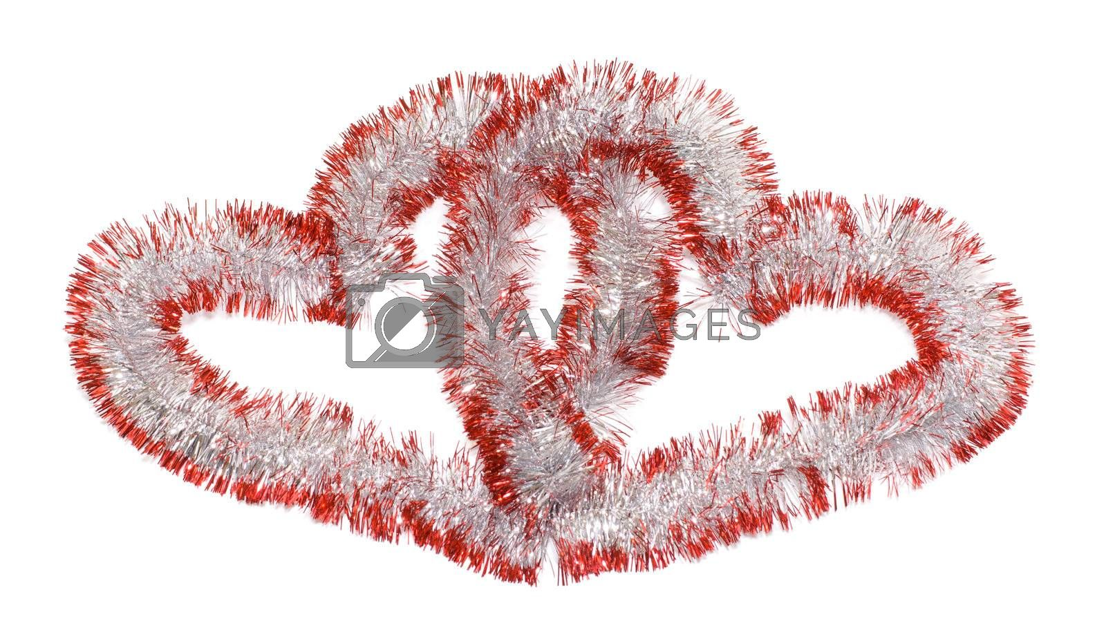Christmas-tree ornaments for holiday lovers. On a white background.