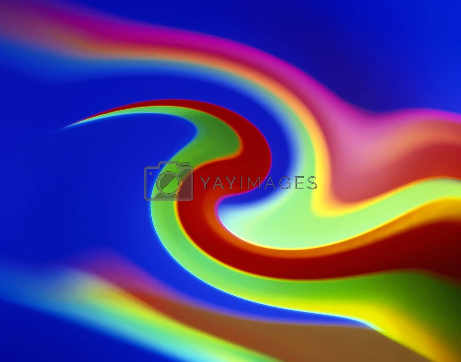 Colorful abstract background with curves and waves