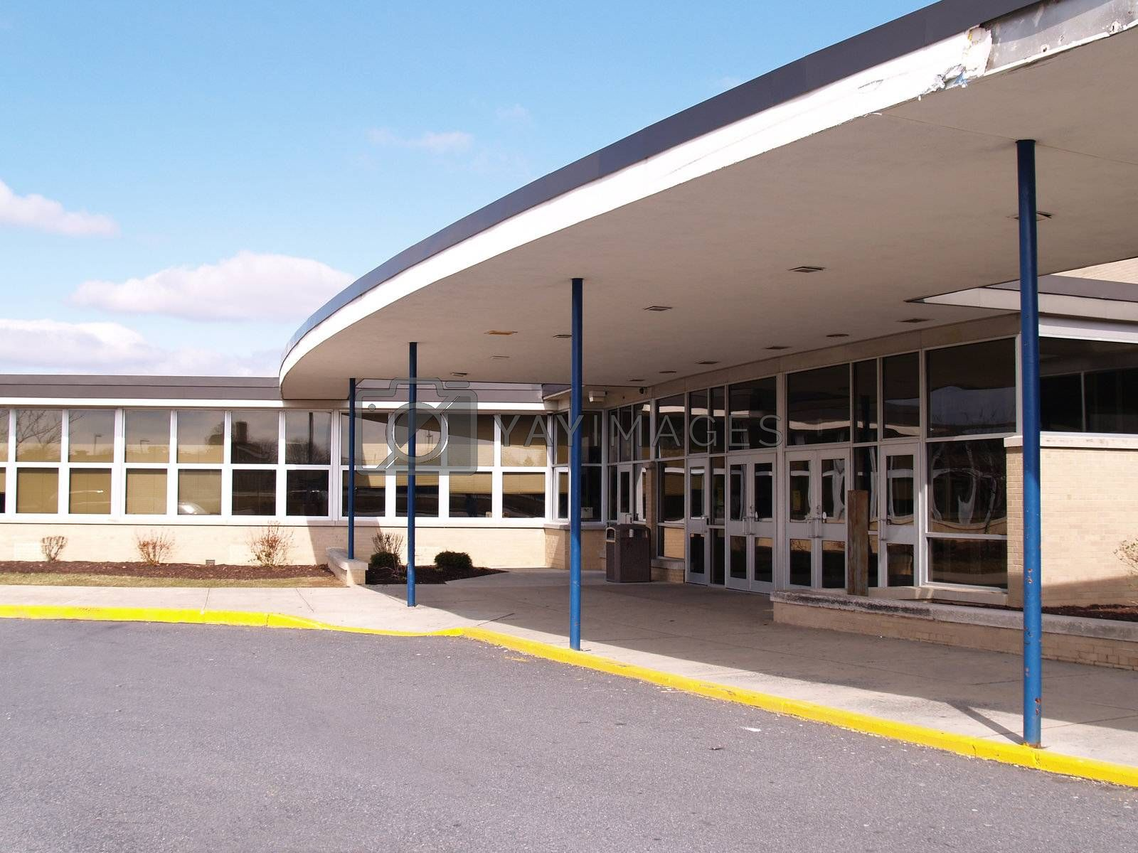 front entryway for a school