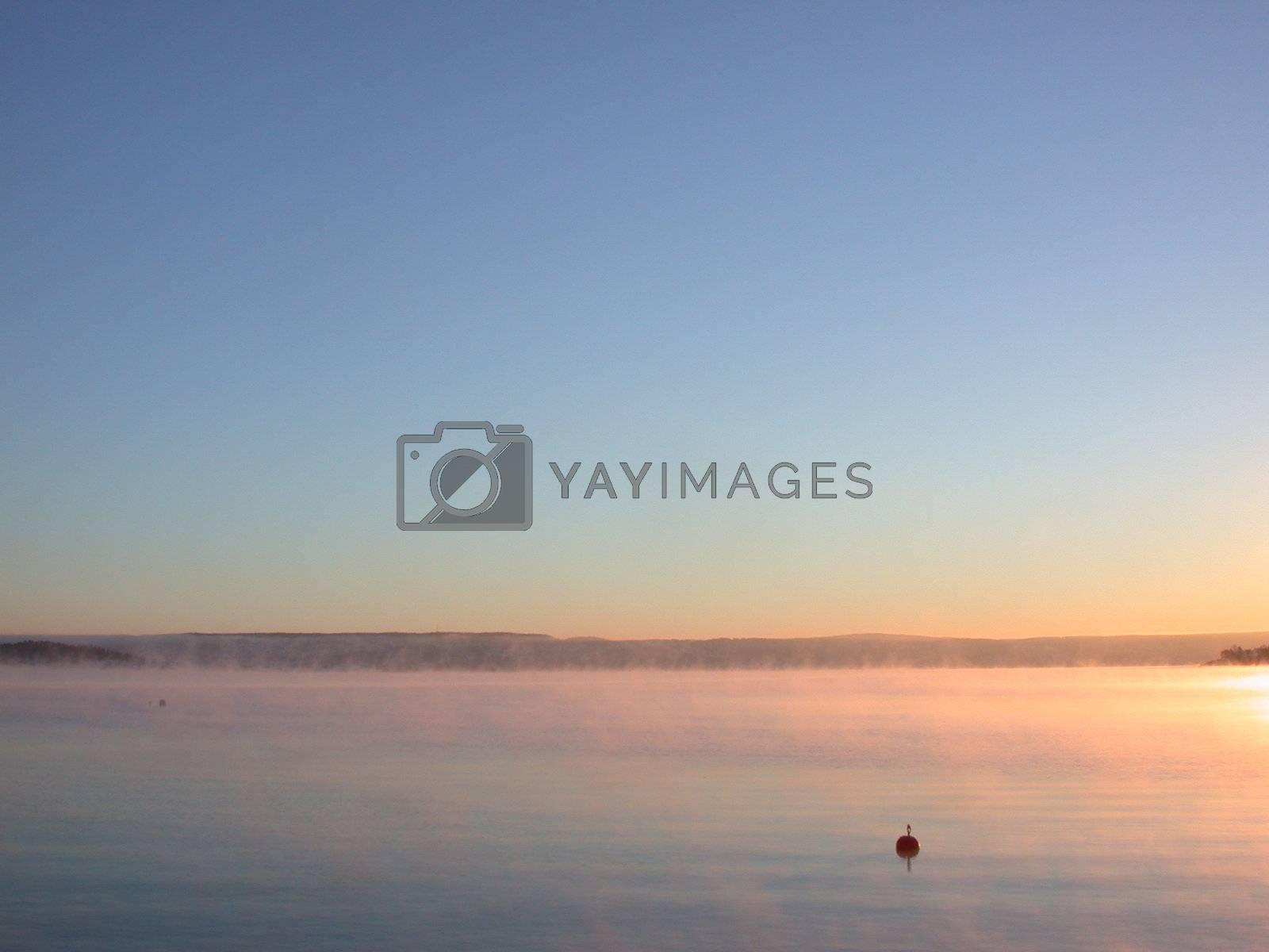 sunrise over Nesbru harbour