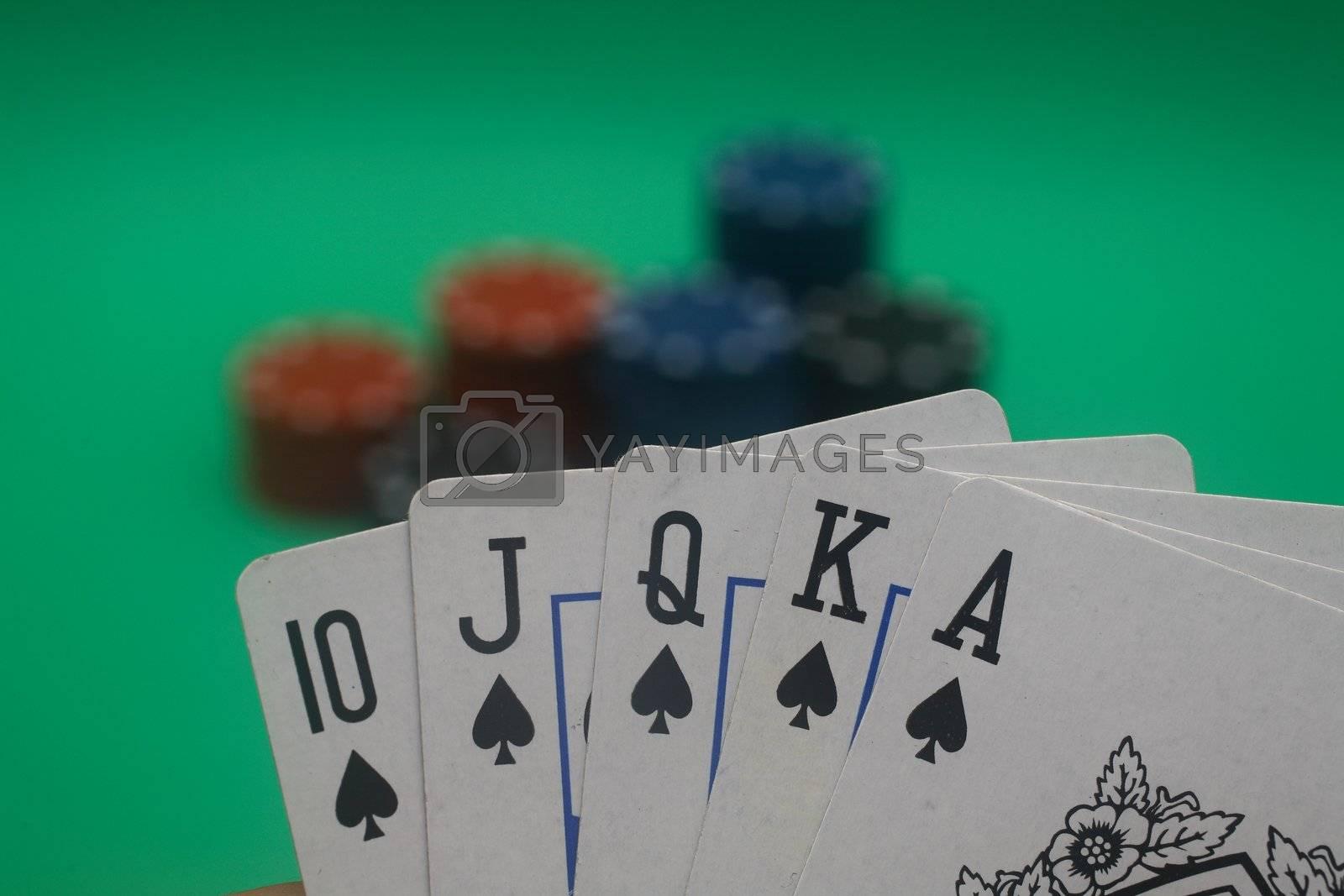 Poker Hand - Spades Straight Flush by Daniel_Wiedemann
