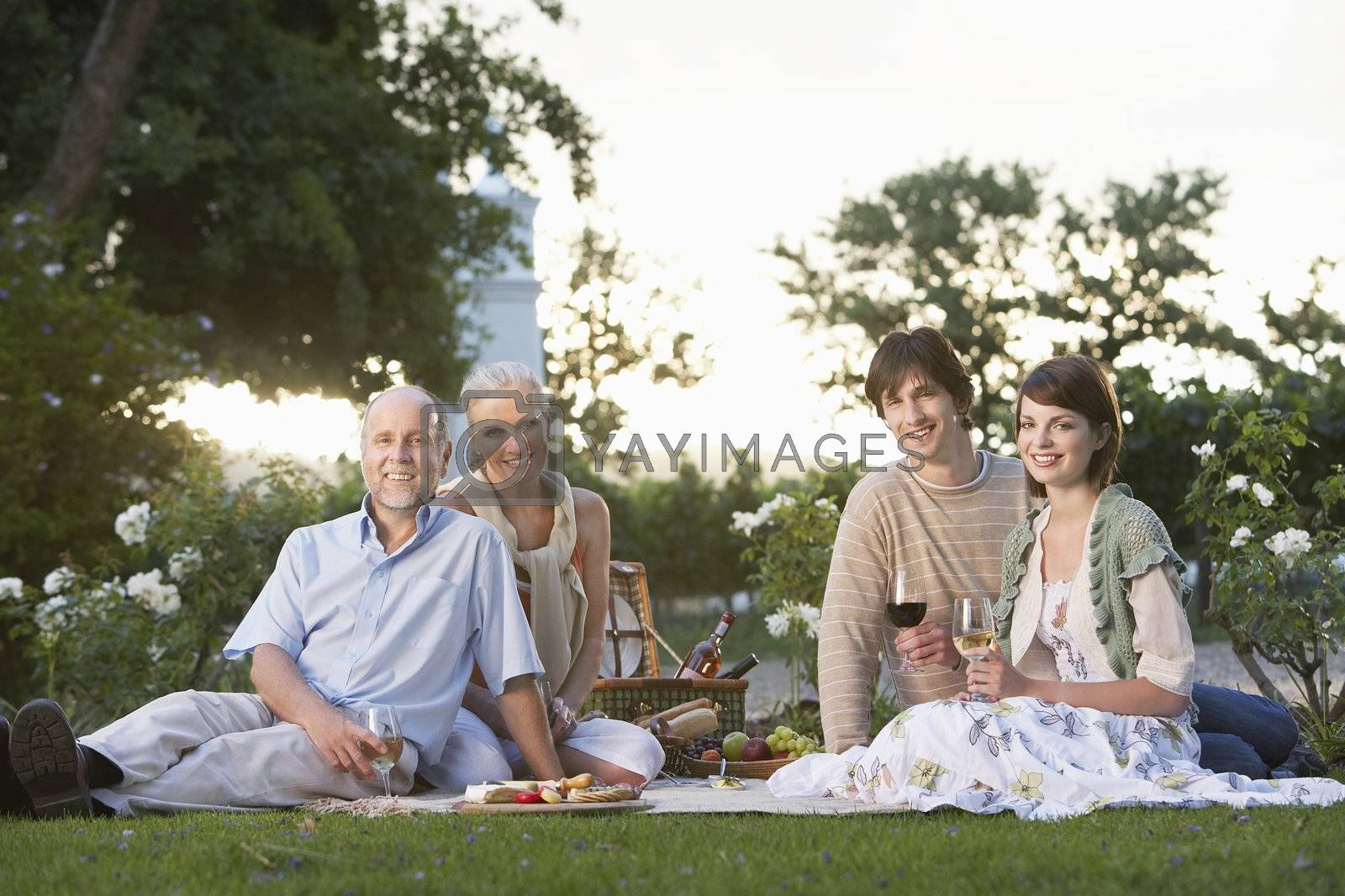 Couples Enjoying an Afternoon at a Winery
