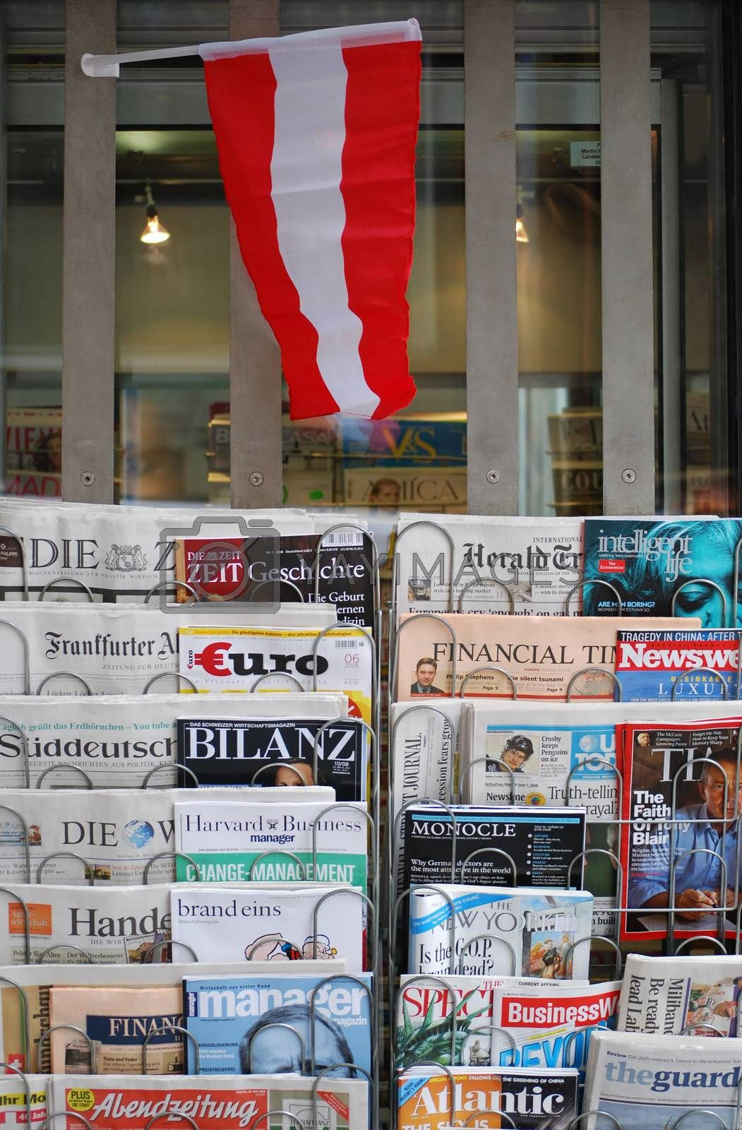 newsstand in Vienna