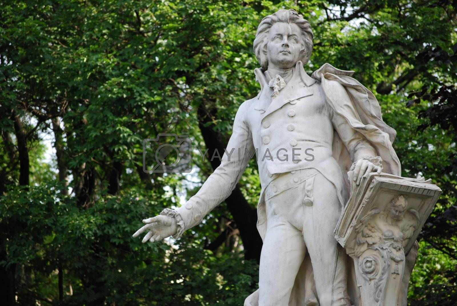 Statue of Mozart in the burggarten, Vienna