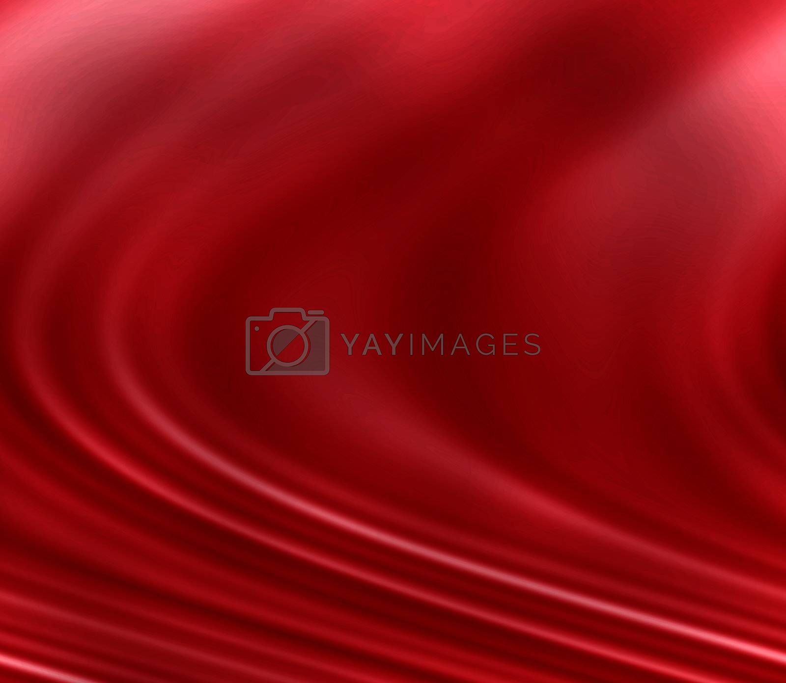 Background wallpaper to bright red fabric that seems