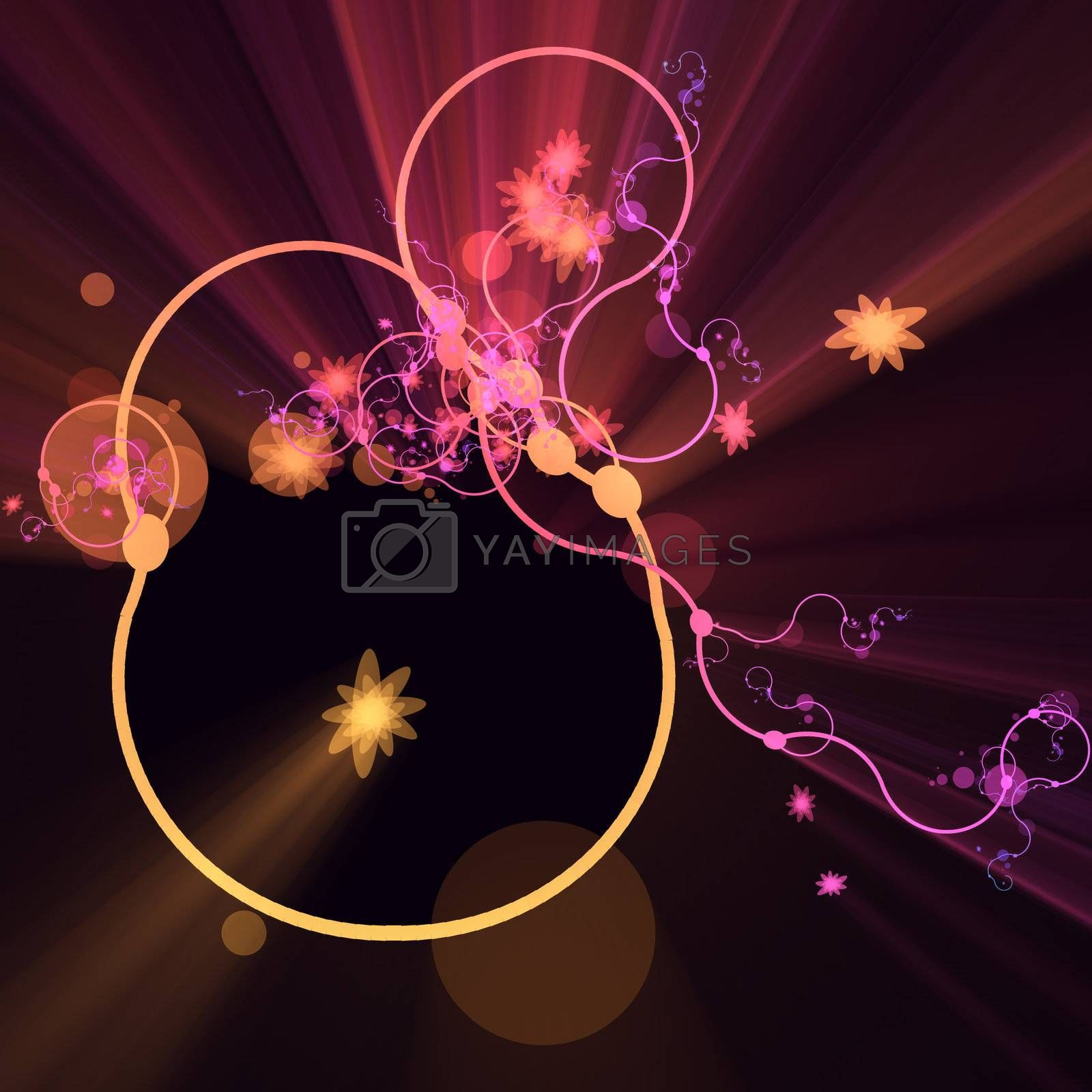 Floral grunge abstract decorative design pattern abstract illustration glowing light