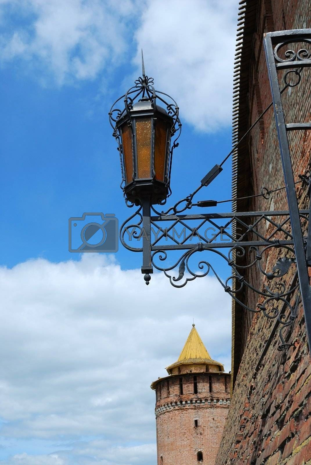 Wall, tower and lamp by svetico